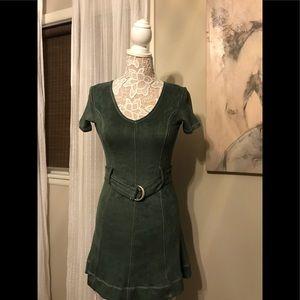 Brand New, Never Worn Hunter Green Belter Dress